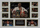ANTHONY JOSHUA 2018 SIGNED LIMITED EDITION  AUTOGRAPH PRINT MEMORABILIA