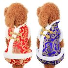 Pet Dog Chinese New Year Tang Suit Coat Puppy Winter Warm  Jumpsuit Costume US