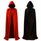 Wizard Black Cloak Robe Vampire Unisex Adult Costume Halloween Costume Cosplay