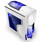 Segotep GANK Gaming Computer PC Case ATX Mid Tower Side Transparent Black White