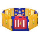 Play Yard Safety Gate Playpen Kids Infant Baby Door Fence In Out Door for Child