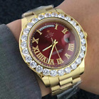 ICED OUT Luxury Men PRESIDENTIAL Watch Business Gold Diamond Fashion Calendar