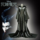 Witch Sleeping Maleficent Angelina Jolie Cosplay Costume Halloween Dress Outfit