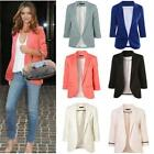 Plus Size Polyester Cotton Material Full Sleeve Casual Wear Elegant Women Blazer