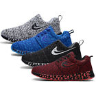 Men Breathable Mesh Light Weight Sneakers Casual Lace-Up Running Jogging Shoes