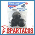 Pack of 3 Spartacus Blue Strimmer Spool & Single 1.5mm x 7m Line for Many Brands