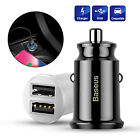 Baseus Mini Dual USB Car Charger 3.1A Smart Adapter for iPhone Samsung Google