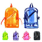 Candy Color Transparent Backpack Women's Unisex Clear PVC Rucksack Handbags New