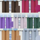 """1 SET INSULATE THERMAL SHORT PANELS WINDOW CURTAIN BLACKOUT 100 PRIVACY 36"""" L"""