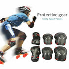 6pcs Kid Adult Elbow Knee Wrist Protective Gear Guard Safety Pads Set Skate BMX image
