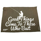 Fishing Funny Microfiber Hand Towel - Good Things Come To Those Who Bait