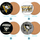 Pittsburgh Penguins Wood Coaster Coffee Cup Mat Mug Pad Table Decor $4.69 USD on eBay