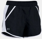Women's Under Armour FLY-BY SHORT 1297125  Black/White or Black Athletic Shorts