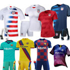 New Kids Men Boys Football Outfit Jersey Soccer Strips Sports Suits with Socks