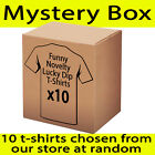 RRP $230 Lucky Dip T Shirts x10  Funny Mystery Novelty tees - Random from store