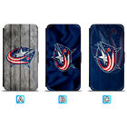 Columbus Blue Jackets Leather Case For iPhone X Xs Max Xr 7 8 Plus Galaxy S9 S8 $8.99 USD on eBay