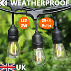 11m/20m S14 LED Extendable Festoon String Lights Outdoor Indoor Party Decor Lamp