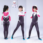 Kyпить 2019 Spider-Man: Into the Spider-Verse Gwen Kids Cosplay Costume Zentai Suit на еВаy.соm