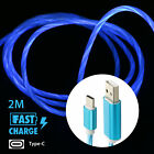 6FT LED Light up Flashing Flowing Visible Micro USB/Type-C Cable Charging Cord