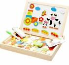 Magnetic Puzzle Drawing Writing Board Wooden Toy Sketchpad Educational Toy