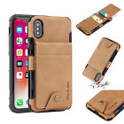 For Apple iPhone XS Max Case XR 8 Deluxe Leather Card Slot Wallet Buckle Cover