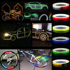 Wheel Reflective Sticker Rims Luminous Warning Decals for Car Motorcycle Bike 8m $2.43 CAD on eBay