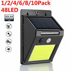 48 LED Auto Solar Power PIR Motion Sensor Wall Light Energy-saving Outdoor Lamp