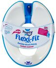 Pourty Toilet Training Seat Flexi-Fit Toddler Adjustable Trainer Blue Pink Grey