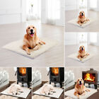 Pet Bed for Dog Crate Mat Soft Warm Pad Liner Home Indoor Outdoor Warmer Bed