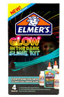Elmers Glue Slime Kit Glow In The Dark Opaque Translucent Glitter Slime Kit 4pck