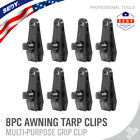 8PC Heavy Duty Tarp Clips Clamps Great for Camping Canopies Tents Canvas 16pc