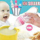 Silicone Rice Squeeze Baby Feeder Feeding Spoon Bottle supplement Food Cereal