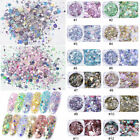 3D  Hexagon Flakes Mixed Glitter Powders Nail Art Decor Nail Sequins