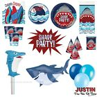SHARK Birthday Party Supplies Boys Childrens Tableware Decorations JAWS
