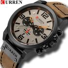 CURREN 8314 Fashion Leather Strap Quartz Men Watches Casual Date Business Watch image