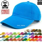 Polo Style Adjustable Plain Solid Washed Cotton Hats Baseball Ball Dad Cap Mens