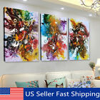 3Pcs Abstract Colorful Canvas Oil Painting Art Print Wall Picture Home Decor !