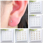 10 Pairs 2mm/3mm/4mm Gold Plated Silver Ball Bead Earrings Ear Studs Jewelry