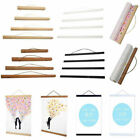 Magnet Wood Wooden Poster Frame Painting Scroll Nordic Photo Picture Hanger DIY