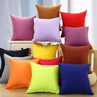 Solid Color Square Home Sofa Decor Pillow Cushion Cover Case Size 16x16""