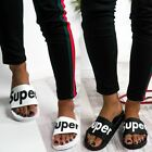 Womens Ladies Flat Sliders Casual Super Slides Slip On Sandals Pumps Beach Comfy