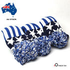 Golf Club Headcover Pom Pom 3 Pack Driver Fairway Head Covers Knitted AU Stock