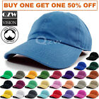 Внешний вид - Polo Style Baseball Cap Ball Dad Hat Adjustable Plain Solid Washed Cotton Mens
