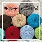 2.5-3mm Macrame Braided Cotton Cord String Rope Craft Sewing Lace Diy Jewellery