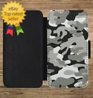Army Camouflage Print Pattern Wallet Phone Case for iPhone 5 6 7 8 X XS Max XR