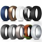 10Pcs Silicone Wedding Ring Rubber Band Set Men Work Sport Outdoor Size 7 to 14