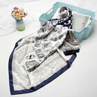 "Women's Fashion Blue Paisley Print Scarf Silk-Satin Soft Shawl Scarves 35""*35"""