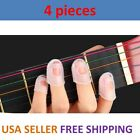 4 Pcs Guitar Bass Silicone Finger Picks Protector Plectrum Guitar Anti-Slip USA