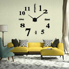 Creative Wall Clock Watch Large Modern Simple DIY Sticker Decal 3D Roman Numeral