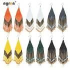 Bohemian Beads Earrings Multi Color Seed Beads Drop Dangle Earrings Women 0364